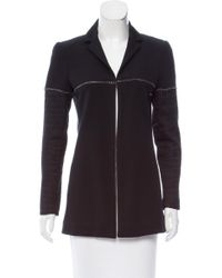 Chanel - Metallic Chain Embellished Jacket Black - Lyst