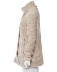 IRO - Natural Oversize Zip-up Coat Neutrals - Lyst