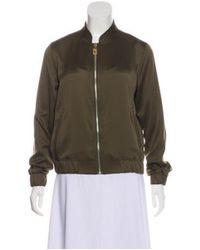 MICHAEL Michael Kors - Green Michael Kors Casual Zip-up Jacket Olive - Lyst