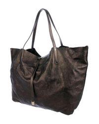 Tiffany & Co - Metallic Suede Reversible Shoulder Bag - Lyst
