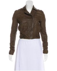 Gryphon - Brown Zip-up Leather Jacket - Lyst