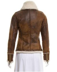 MICHAEL Michael Kors - Brown Michael Kors Faux Leather Jacket - Lyst