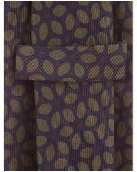 Petronius - Blue Printed Silk Tie Navy for Men - Lyst