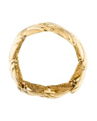 Givenchy - Metallic Sculpted Link Bracelet Gold - Lyst