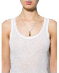 Alexis Bittar - Metallic Lucite & Crystal Pendant Necklace Gold - Lyst