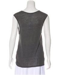 Helmut Lang - Gray Sleeveless Scoop Neck T-shirt W/ Tags - Lyst