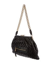 Marc Jacobs - Metallic Quilted Leather Stam Bag Black - Lyst