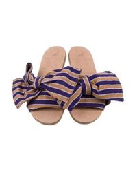 Brother Vellies - Purple Burkina Stripe Slide Sandals - Lyst