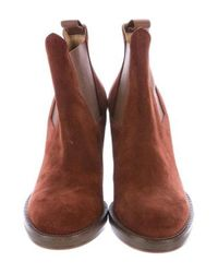 Acne - Brown Suede Ankle Boots - Lyst