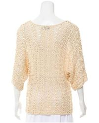 Rachel Zoe - Natural Texture Knit Top Tan - Lyst