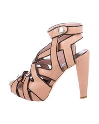 Loeffler Randall - Black Leather Cutout Sandals - Lyst
