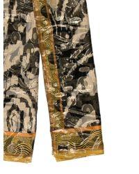 Etro - Metallic Printed Silk Scarf Black - Lyst