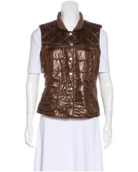 Bogner - Brown Quilted Insulated Vest - Lyst