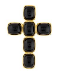 Kenneth Jay Lane - Metallic Resin Cross Brooch Gold - Lyst