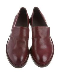 Brunello Cucinelli - Red Distressed Round-toe Loafers W/ Tags Burgundy - Lyst
