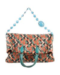 Miu Miu - Metallic Miu Vernice Patch Shopping Bag Multicolor - Lyst