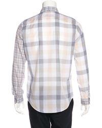 Louis Vuitton - Blue Plaid Woven Shirt for Men - Lyst