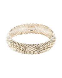 Tiffany & Co - Metallic Somerset Mesh Bangle Silver - Lyst