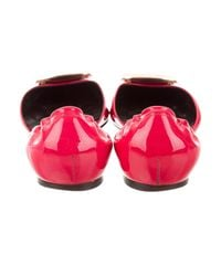 Roger Vivier - Pink Patent Leather D'orsay Flats Fuchsia - Lyst