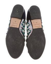 Dior - Black Crystal-embellished Mesh Flats - Lyst