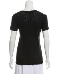 Rag & Bone - Black Lightweight V-neck Top - Lyst