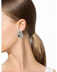 Givenchy - Metallic Drop Earrings Silver - Lyst
