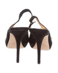 Kate Spade - Black Peep-toe Slingback Pumps - Lyst