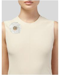 Alexis Bittar - Metallic Crystal & Lucite Flower Bee Brooch Rose - Lyst
