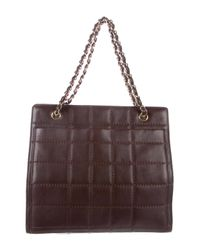 Chanel - Metallic Vintage Square Quilt Tote Gold - Lyst
