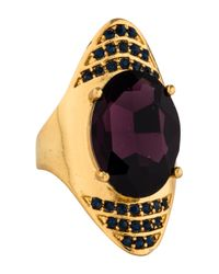 Alexis Bittar - Metallic Crystal Spike Cocktail Ring Gold - Lyst