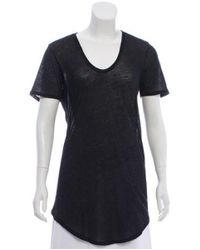 Helmut Lang - Gray Scoop Neck Short Sleeve T-shirt - Lyst
