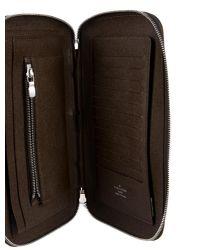 Louis Vuitton - Metallic Taiga Zippy Geode Organizer Silver for Men - Lyst