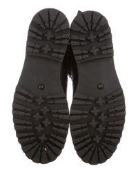 Tory Burch - Metallic Leather Mid-calf Boots Black - Lyst