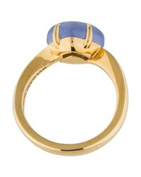 BVLGARI - Metallic 18k Chalcedony Sassi Ring Yellow - Lyst