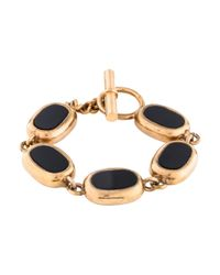 Chanel - Metallic Gripoix Link Toggle Bracelet Gold - Lyst