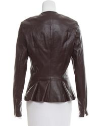 The Row - Red Anasta Leather Jacket W/ Tags Burgundy - Lyst