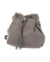 Stella McCartney - Gray Shaggy Deer Falabella Bucket Bag Grey - Lyst