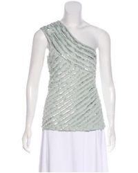 Roberto Cavalli - Green One-shoulder Embellished Top Mint - Lyst