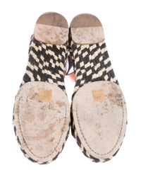 Proenza Schouler - Brown Leather Espadrille Sandals - Lyst