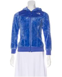 Lyst The North Face Furry Fleece Jacket In Blue