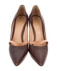 Louis Vuitton - Brown Leather Pointed-toe Pumps - Lyst