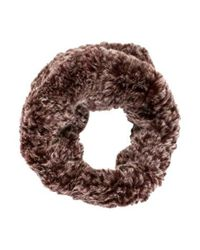 Glamourpuss - Fur Knit Snood Brown - Lyst