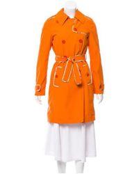 Etro - Double-breasted Trench Coat Orange - Lyst
