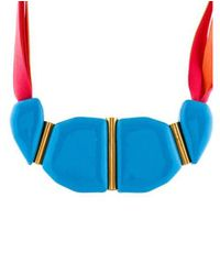 Marion Vidal - Metallic Enameled Ceramic Collar Necklace Brass - Lyst