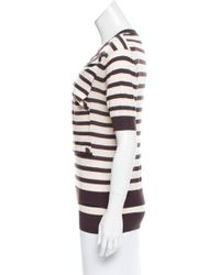 Louis Vuitton - Natural Striped Wool Top Tan - Lyst