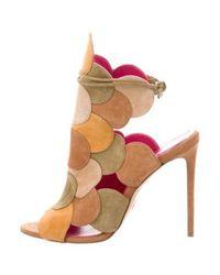 Oscar Tiye - Brown Suede Cutout Sandals - Lyst