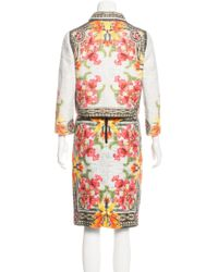 Givenchy - Blue Printed Tweed Skirt Suit - Lyst