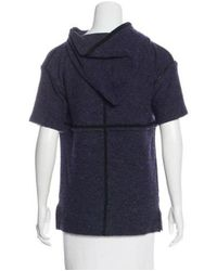 Isabel Marant - Purple Wool-blend Short Sleeve Sweatshirt Indigo - Lyst
