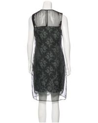 Erdem - Black Sleeveless Lace Dress - Lyst