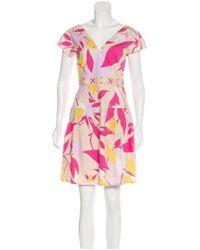 Emilio Pucci - Pink Printed A-line Dress - Lyst